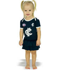 AFL Girls Toddler Baby Carlton Blues Footysuit with Frills