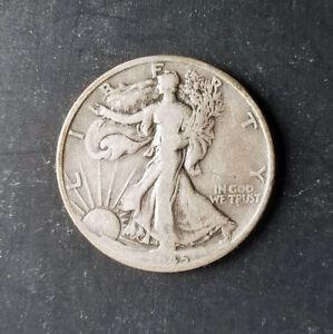 (1) Walking Liberty Half Dollar - 1945-D - 90% Silver - Very Good