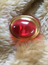 MIB FLAWLESS Exquisite BACCARAT Crystal MEDICIS RING 18K GOLD ACCENT Size 55