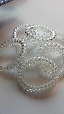 Thick Spiral Plastic Large Invisible Clear Hair Band Hairband Bobble Stretchy x3