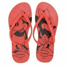 Havaianas Slim Women Disney Minnie Mouse Flip Flop Red Sandals Shoe All Sizes