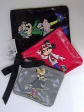 Disney Parks Exclusive Minnie Mouse 3 Zippered Cosmetic Bag Pouch Set Nwt