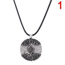 �rbol curativo de plata de la vida collar colgante amuleto talismán árbolnórdico