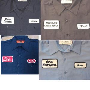 12 CUSTOM UNIFORM WORK SHIRT PERSONALIZED Company Name