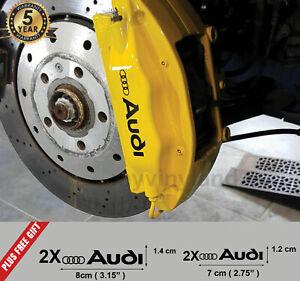AUDI S-LINE Quattro Qualität Bremssattel Aufkleber Aufkleber x4 2x 8cm / 2x 7cm