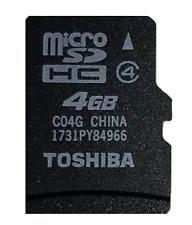 JOB LOT 5 x  4GB Micro SD Toshiba Memory Cards