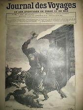 JOURNAL DES VOYAGES N° 78  RUSSIE UNE CHASSE AUX LOUPS ET A L'OURS NOIR 1879
