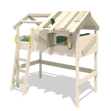 WICKEY Kinderbett Hochbett CrAzY Cove - Hausbett 90 x 200 cm, Etagenbett