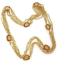 MINT Gold Tone Citrine Colored Crystal Pools Of Light Station Necklace