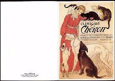 carte postale publicitaire.clinique Chéron.Médecin Vétérinaire. chat. cat.chiens