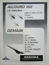 1966 PUB SNECMA MOTEURS AVIATION CONCORDE OLYMPUS 593 MIRAGE ATAR FRENCH AD