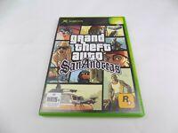 Mint Disc Xbox Original Grand Theft Auto San Andreas Free Postage