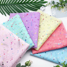 1M Star Sequins Mesh Fabric Glitter Sewing Wedding Party Dress Stage Decor  DIY