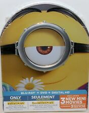 MINIONS Best Buy Blu-ray w LTD ED Metal Case Embossed SEALED FAST FREE SHIPPING