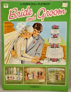 1981 BRIDE and GROOM Paper Doll Book - WHITMAN - UNUSED & MINT
