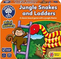 Orchard Toys MINI GAME JUNGLE SNAKES AND LADDERS Educational Game Puzzle BN