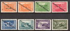 1925 Albania SC 178-185 | MI 118-125 MH Mint - Landscapes with Overprints*