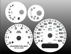 1998-2000 Dodge Stratus Sebring Cirrus Dash Cluster White Face Gauges