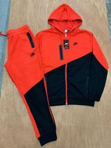 NIKE Sweatsuit 2 Tone Complete Set Hoodie & Joggers Full Zip Jacket