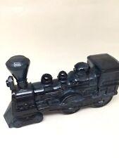 Vintage Avon Railway Train Engine Cobalt Blue Glass Bottle
