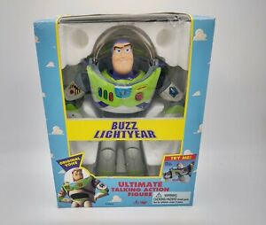 Disney Toy Story BUZZ LIGHTYEAR Ultimate Talking Action Figure Original Thinkway