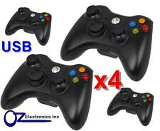 4x XBOX 360 Black Wired Game Pad Controller For XBOX 360 PC USB FREE SHIPPING