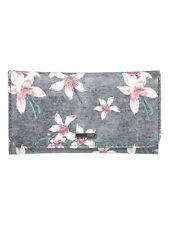 ROXY WOMENS PURSE.MY LONG EYES FLOWER FAUX LEATHER COIN CARD WALLET 8W 78 KVJ8