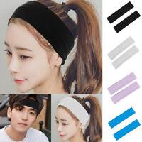 2Pcs Women Men Sport Sweat Sweatband Headband Yoga Gym Stretch Hairband