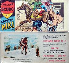 striscia  CAPITAN MIKI XXVII  serie n.10  con figurina Album LONTANO WEST