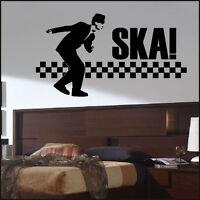 LARGE SKA 2 TONE DANCE BEDROOM WALL MURAL GIANT STICKER ART VINYL DECAL TRANSFER