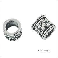 2 Sterling Silver Rondelle Ring Spacer Beads 8.5mm Fit European Bracelet #97882