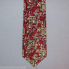 Metropolitan Museum of Art STAMP SCROLL Design Silk Neck Tie made in Canada #386