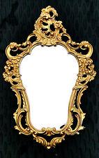 Ovale Specchio Oro 50X76 Antico Barocco Bagno Corridoio