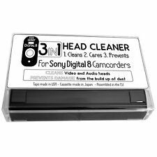 3 in 1 Video and Audio Head Cleaner Tape Cassette For Sony Digital 8 Camcorder