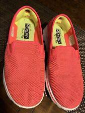 SKETCHERS Women Size 9 Go Walk Form Fit Memory Foam Slip-On Shoes Bright Orange