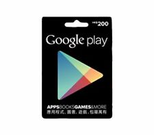 1 x Hong Kong Google Play Gift Card HKD$200 for Hong Kong Google Play Store ONLY