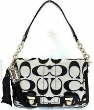 Coach Poppy signature sateen lurex pushlock flap handbag