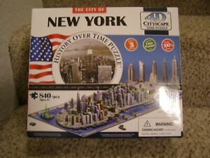 The City Of New York History Over Time 4D Cityscape Puzzle 840+ Pcs.