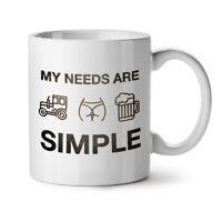 Farmer Beer Tractor NEW White Tea Coffee Mug 11 oz | Wellcoda