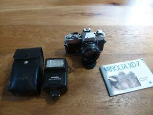 Minolta XD7 mit MD Rokkor 50mm und Blitz X200