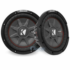 "(2) KICKER 43CWRT102 CompRT CWRT102 10"" 1600W Car Subwoofer Package!"