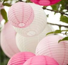 9x 30cm pinks white paper lanterns engagement wedding birthday party venue decor