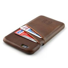 iPhone 6S Card Holder Case Brown Leather Wallet Slim Professional Bumper Cover