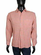 *Paul Smith Mens Shirt Cotton Checks Orange M