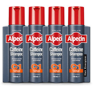 4 x Alpecin C1 Caffeine Shampoo for Men - Thicker & Stronger Hair 250ml