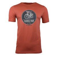 TOMMY BAHAMA Men's T-shirt SMALL- HANDLEBAR Red Wine Bike Summer Coral Tee Small