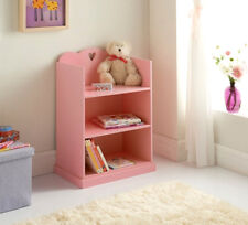 Shabby Chic French Design Inspired Amelia Pink Heart Children's Bookcase