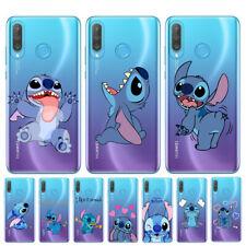 For Huawei P30 Lite P20Pro P10 P9 Blue Stitch Cute Cartoon Case Cover Soft Cover