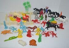 Vintage Plastic Animals People Figure Marx  53 pc Lot