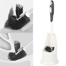 Silicone Toilet Brush Base Soft Bristle Cleaning Antibacterial WC Bathroom Set